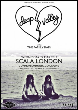 Deap Vally live at Scala May 2013