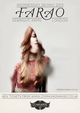 Farao live at the Sebright Arms May 2013