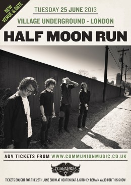 Half Moon Run venues upgrade and date change