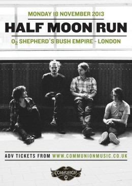 Half Moon Run announce Autumn London show