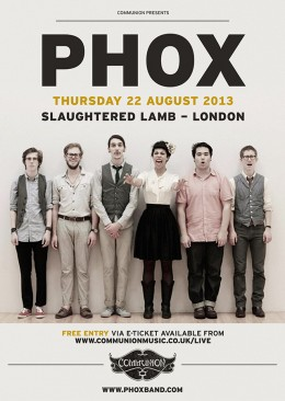 PHOX to play free London show in August