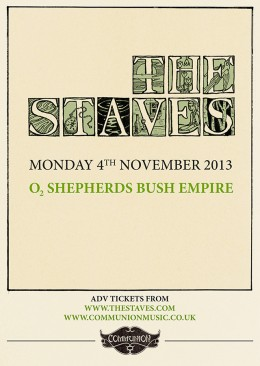 The Staves announce headline show at O2 Shepherds Bush Empire