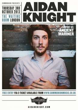Aidan Knight announces free show
