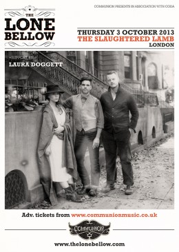 The Lone Bellow to play London in October