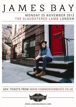 James Bay announces London show