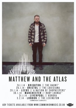 Matthew and the Atlas on Tour in January