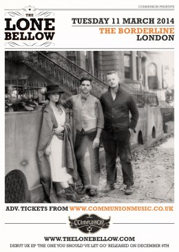 The Lone Bellow announce March 2014 date