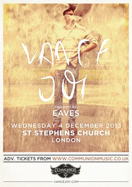 Vance Joy returns to play St Stephens Church