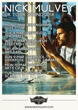 Nick Mulvey UK Tour 2014 Poster