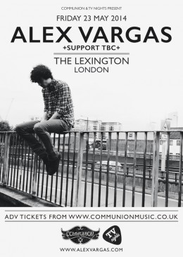 Alex Vargas to headline The Lexington