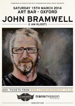Johnny Bramwell ( I Am Kloot) to play The Art Bar, Oxford