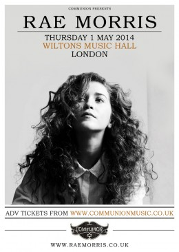 Rae Morris announces headline show at Wilton's Music Hall