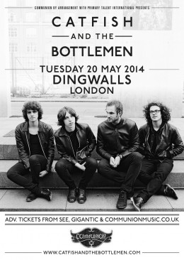 Catfish and The Bottlemen announce London show in May