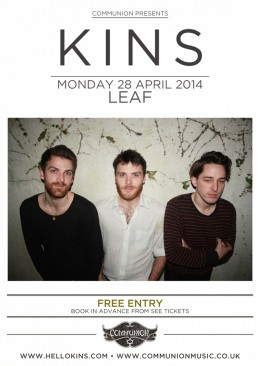 KINS to play free show in Liverpool