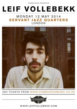 Leif Vollebekk to play Servant Jazz Quarters