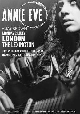 Annie Eve Lexington Gig Poster