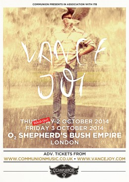 Vance Joy SBE October 2014 SO1