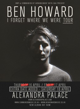 Ben Howard Alexandra Palace April 2015 v4 Web