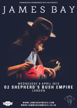 James Bay Shepherds Bush Empire April 2015 v3 Web
